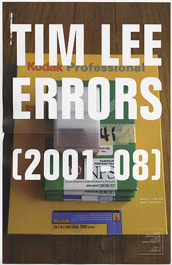 Tim Lee, Errors (2001-08), March 13 - May 2, 2009